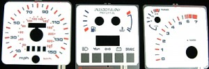 XR4Ti Indiglo Instrument Panel Face Kit - Night