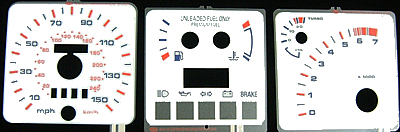 XR4Ti Indiglo Instrument Panel Face Kit - Day